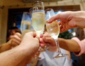 シャンパンを配達